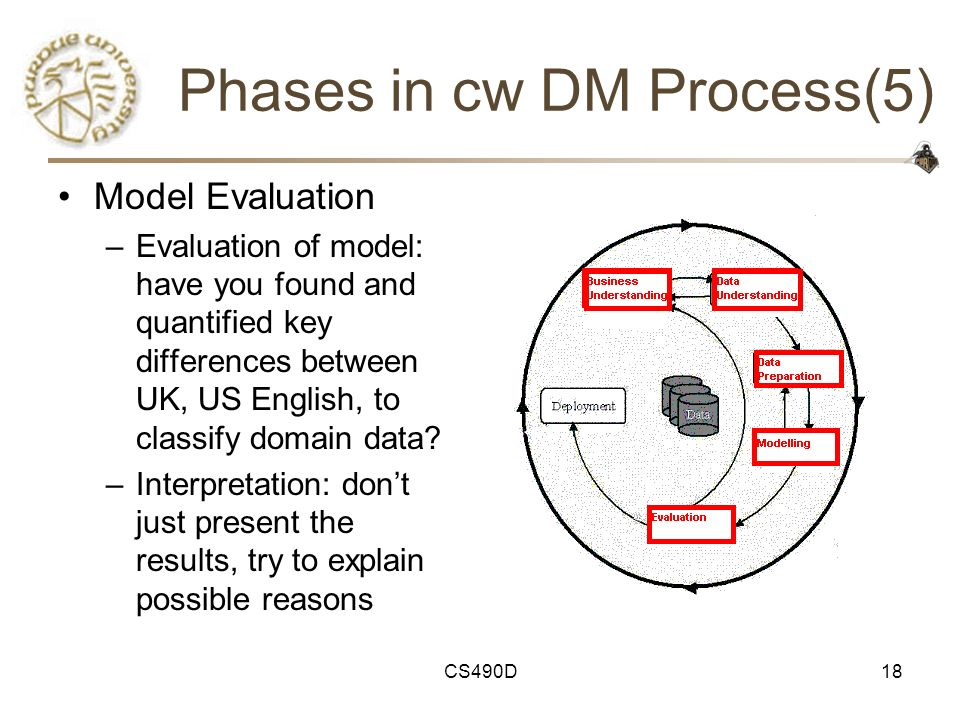 Phases in cw DM Process(5)