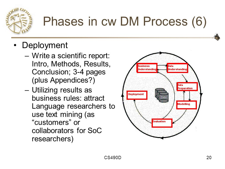 Phases in cw DM Process (6)