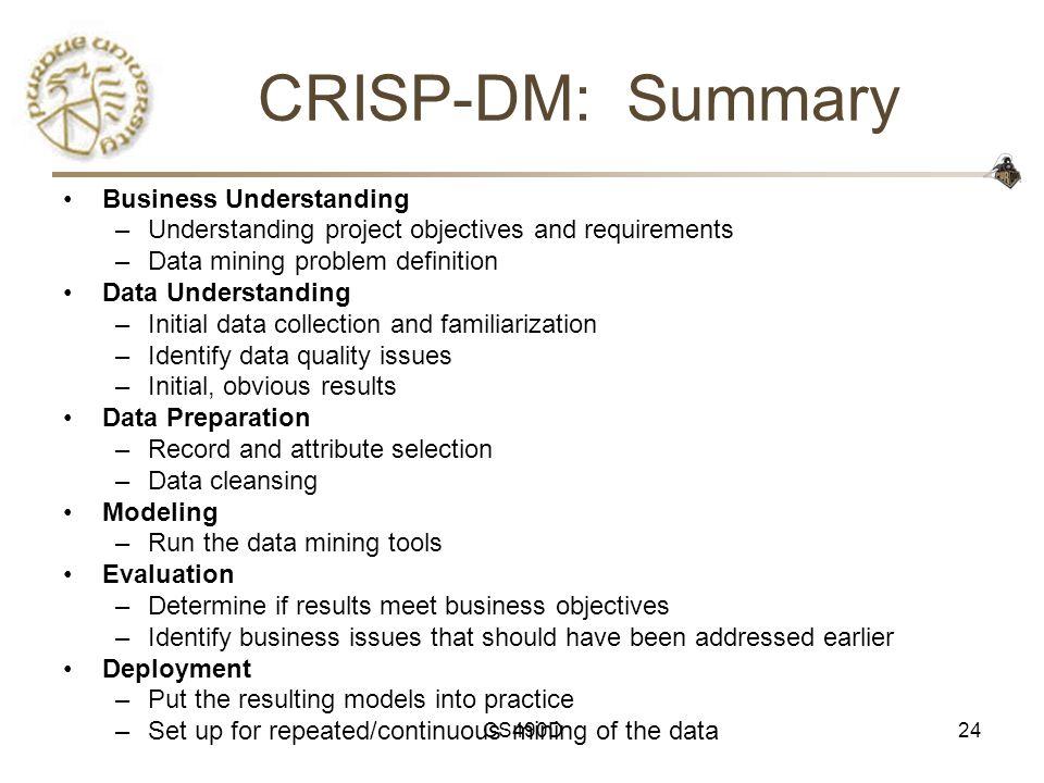 CRISP-DM: Summary Business Understanding