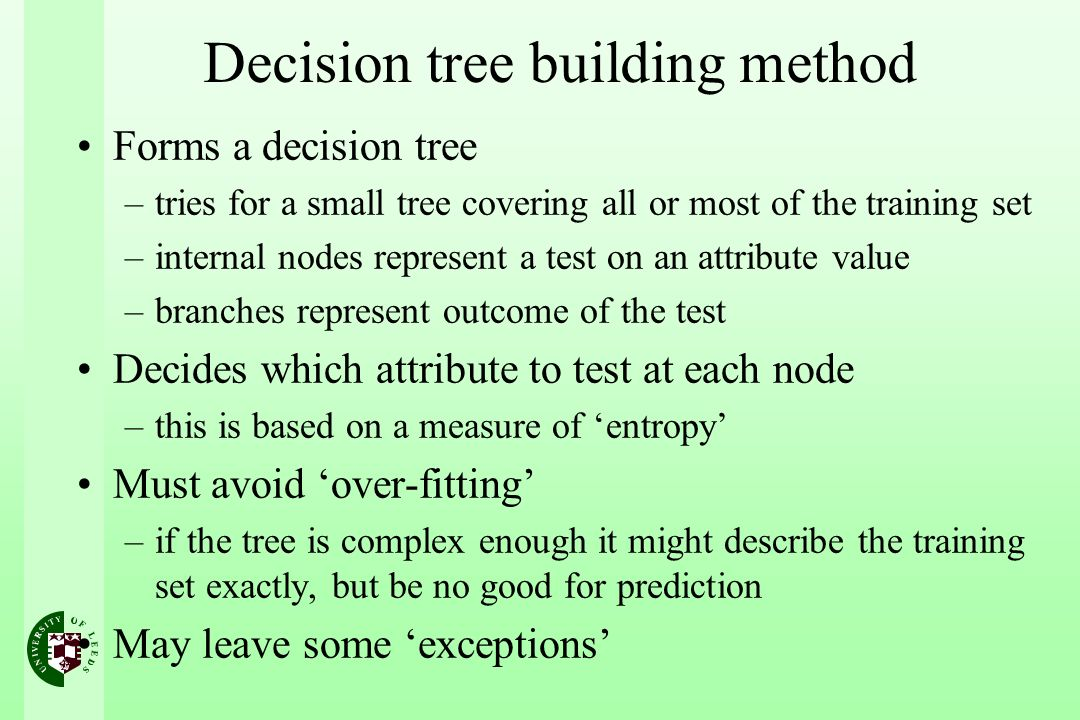 Decision tree building method
