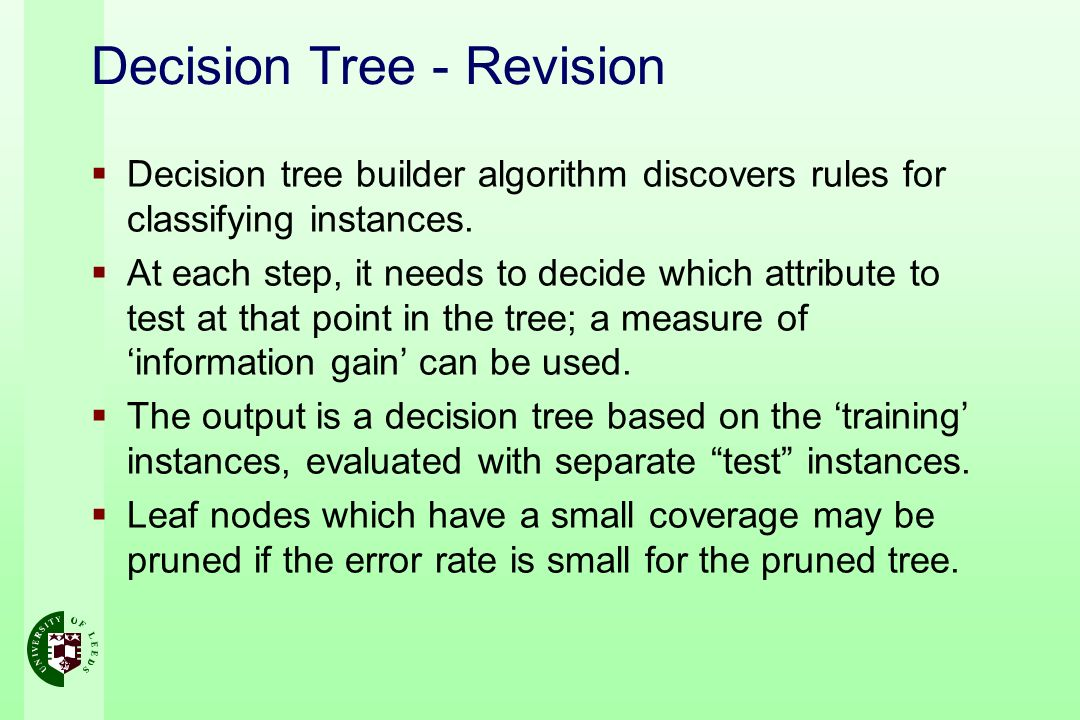 Decision Tree - Revision