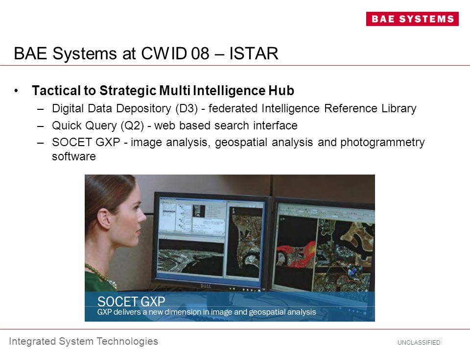 BAE Systems at CWID 08 – ISTAR