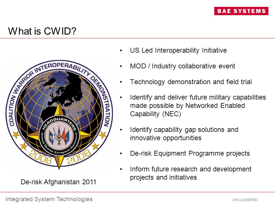 What is CWID US Led Interoperability Initiative