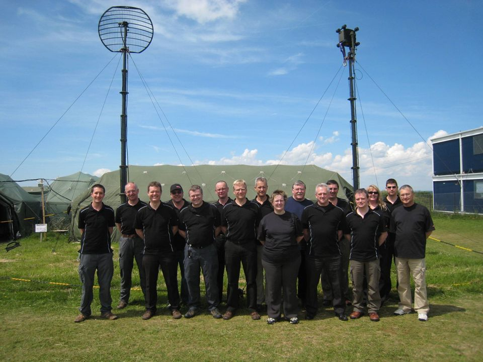 BAE Systems Insyte team with Falcon band 4 and band 1/3 antennae