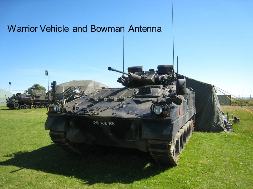 Warrior Vehicle and Bowman Antenna