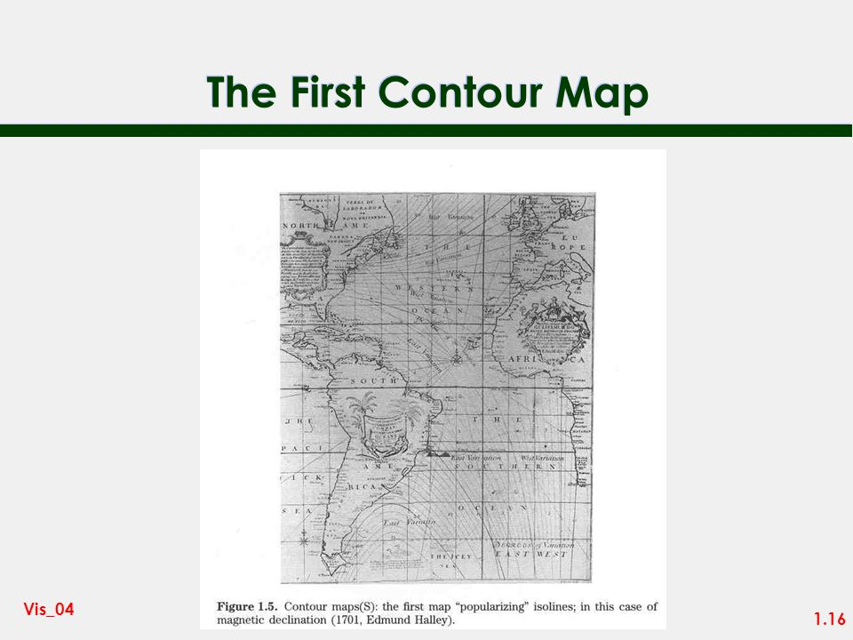 The First Contour Map