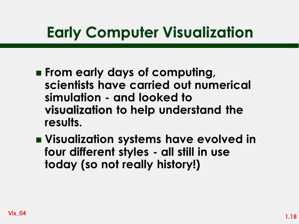 Early Computer Visualization