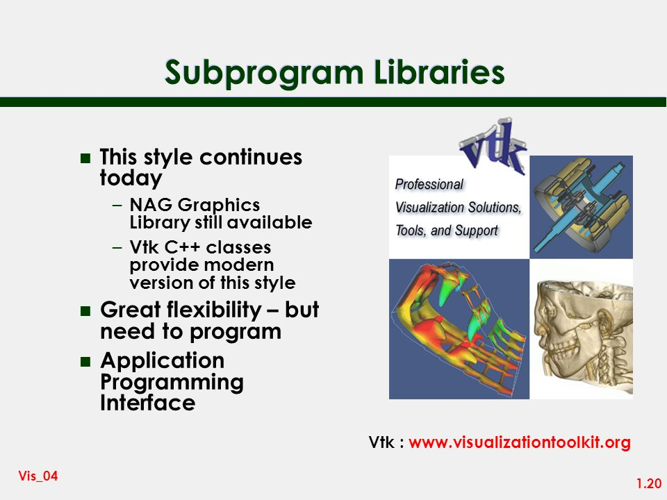 Subprogram Libraries This style continues today