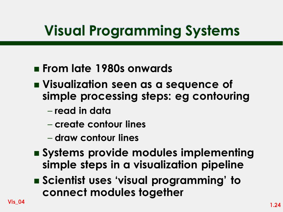 Visual Programming Systems