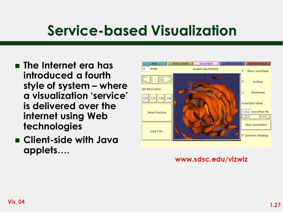 Service-based Visualization
