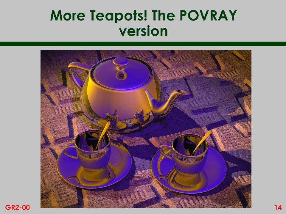 More Teapots! The POVRAY version