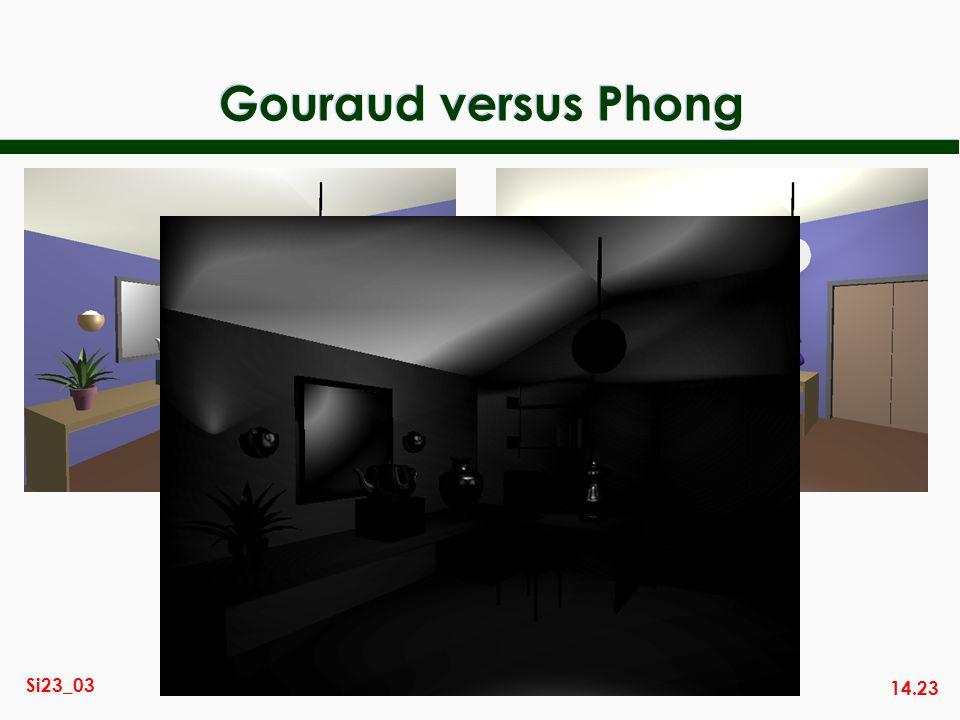 Gouraud versus Phong