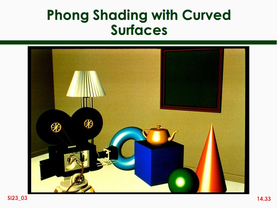 Phong Shading with Curved Surfaces