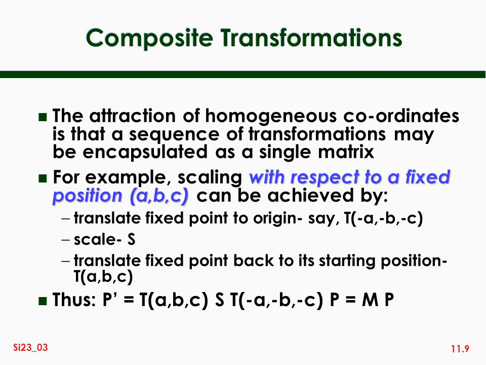 Composite Transformations