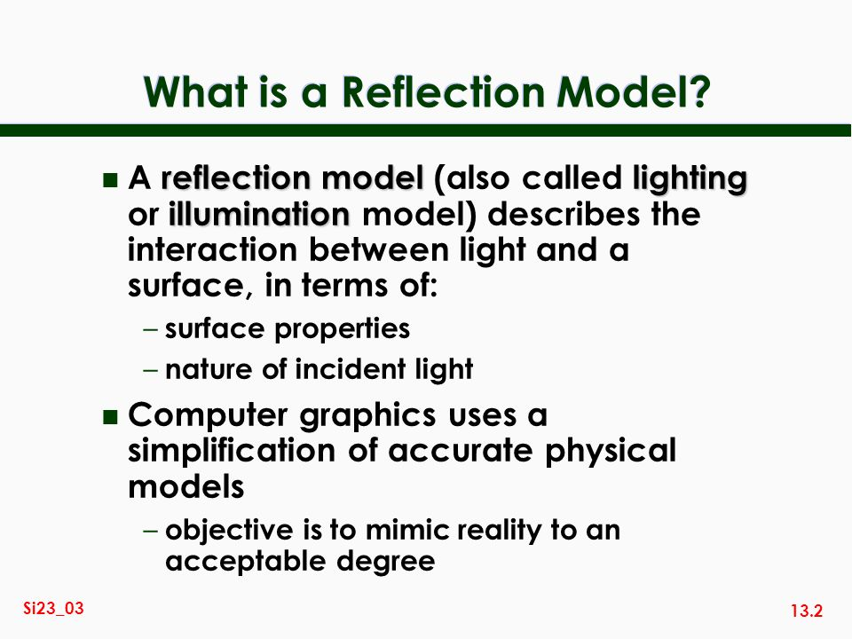 What is a Reflection Model