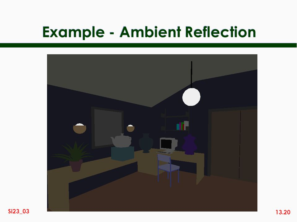 Example - Ambient Reflection
