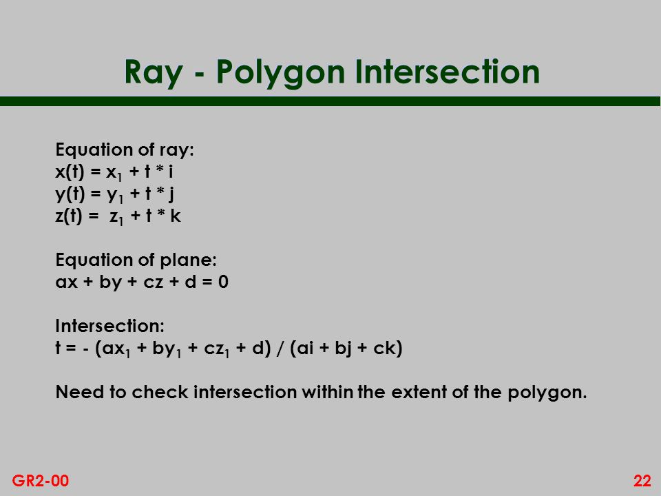 Ray - Polygon Intersection