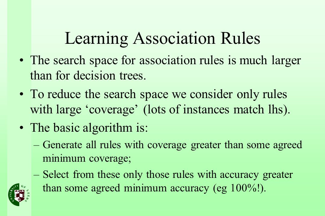 Learning Association Rules