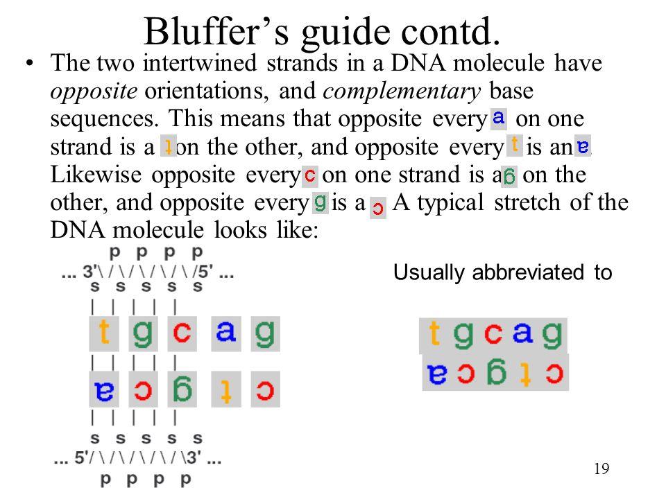 Bluffer's guide contd.