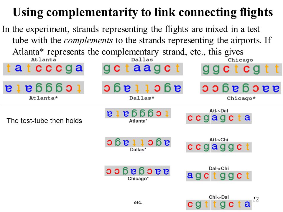 Using complementarity to link connecting flights