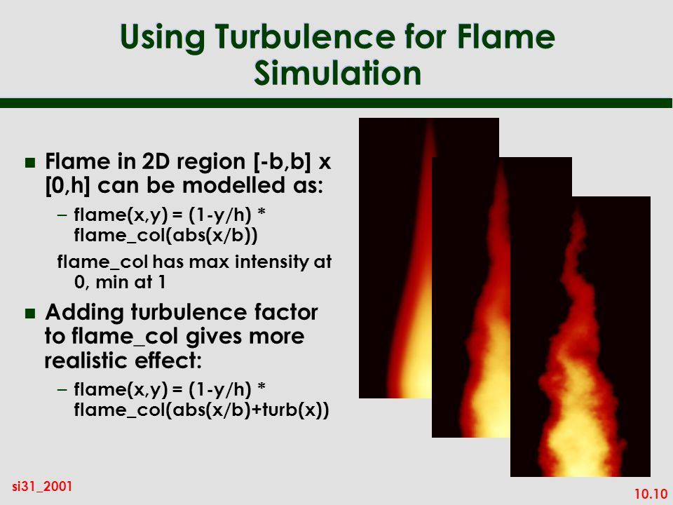 Using Turbulence for Flame Simulation
