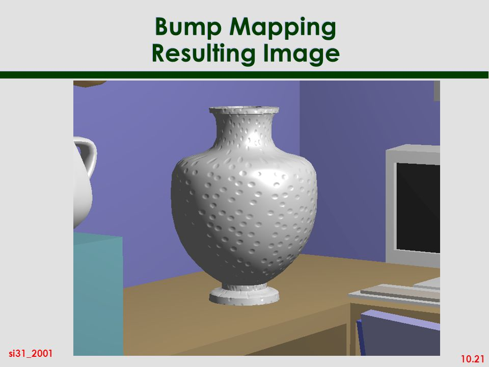Bump Mapping Resulting Image