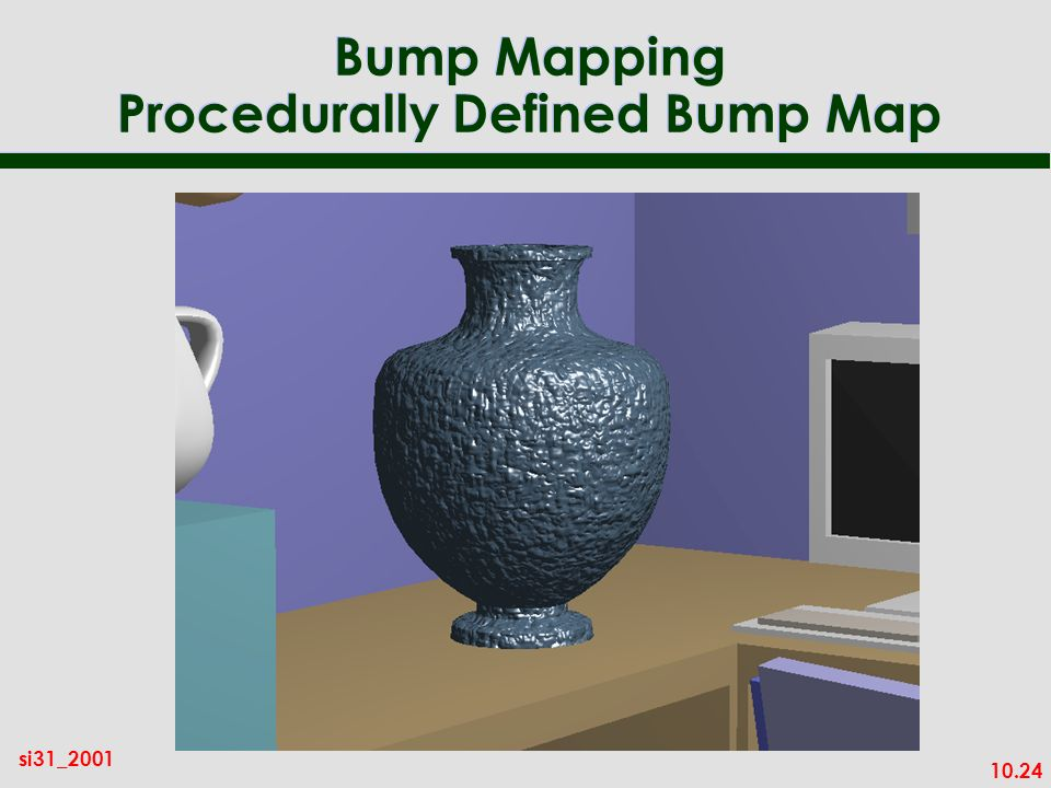 Bump Mapping Procedurally Defined Bump Map