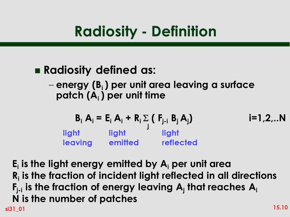 Radiosity - Definition