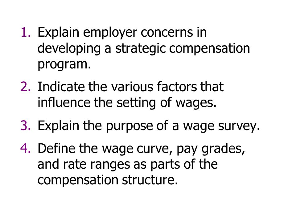 Components of wage structure of an industrial employee