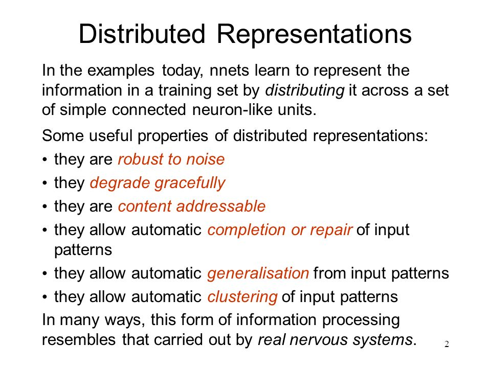 Distributed Representations