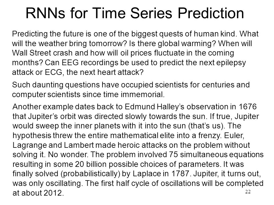 RNNs for Time Series Prediction
