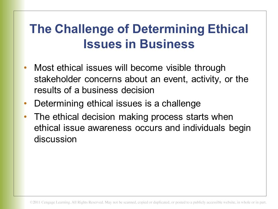 the challenge of ethical behavior Ethics requires the containment and delineation of certain parameters of behavior the single intervening cause which provides for an exception to such constraints of.