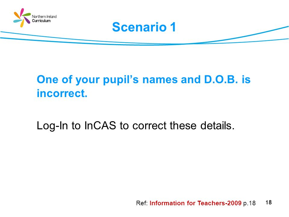 One of your pupil's names and D.O.B. is incorrect.