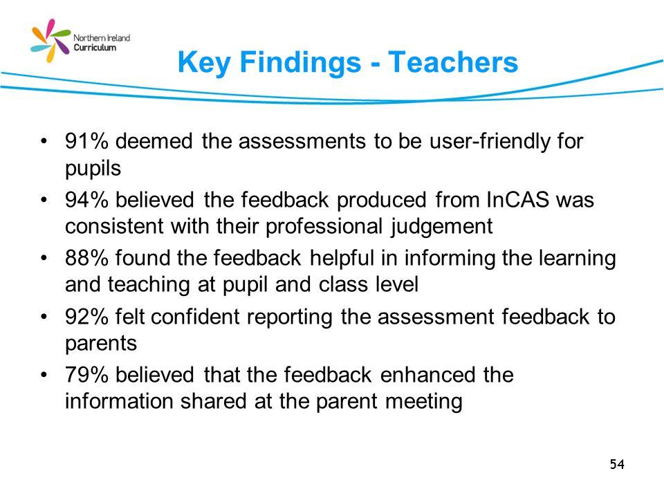 Key Findings - Teachers
