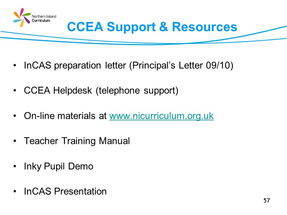 CCEA Support & Resources