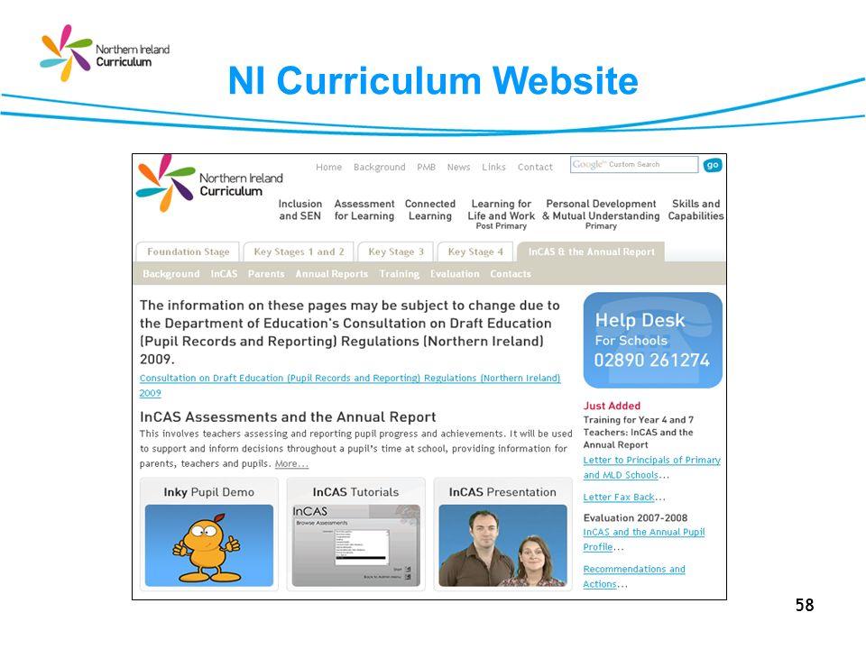 NI Curriculum Website