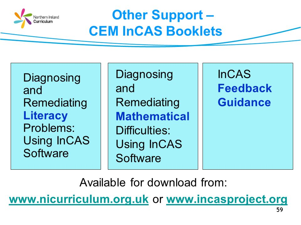 Other Support – CEM InCAS Booklets