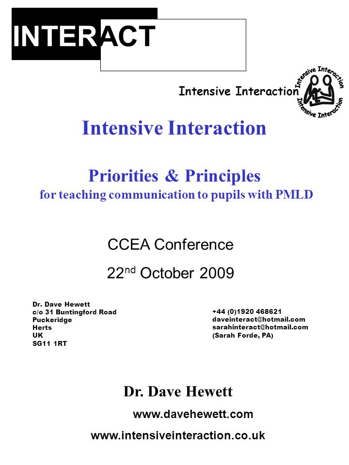 INTERACT Intensive Interaction Intensive Interaction