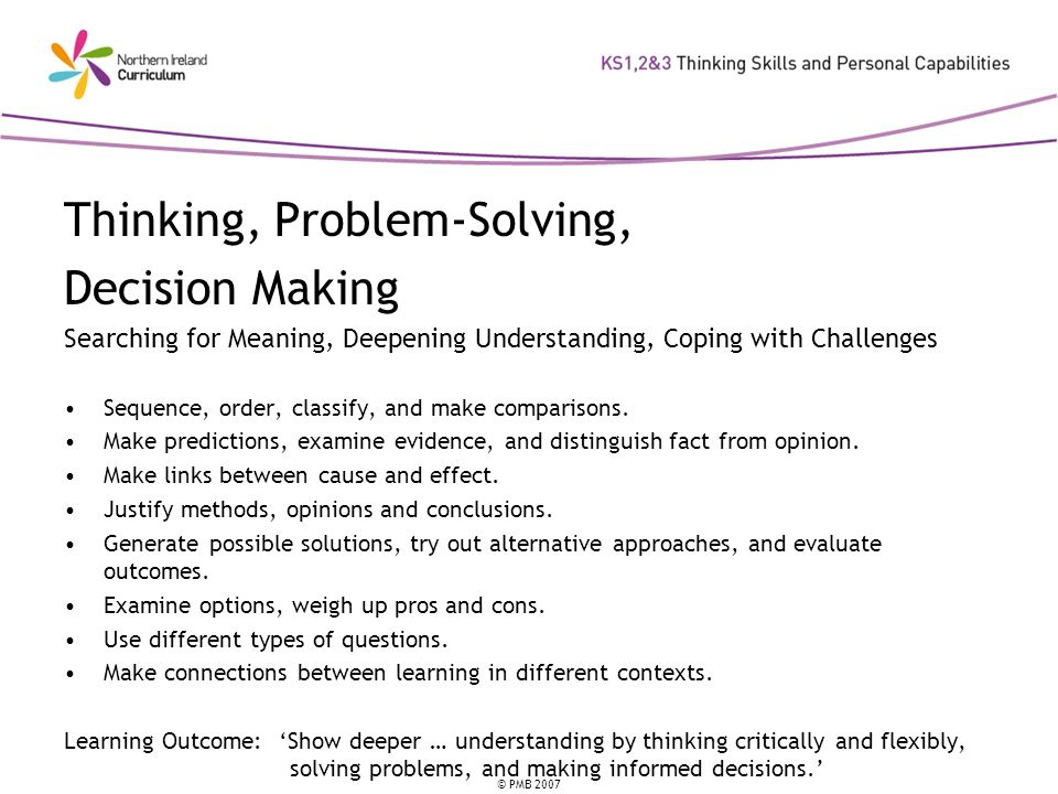 Thinking, Problem-Solving, Decision Making