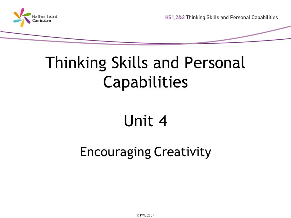 Thinking Skills and Personal Capabilities Unit 4