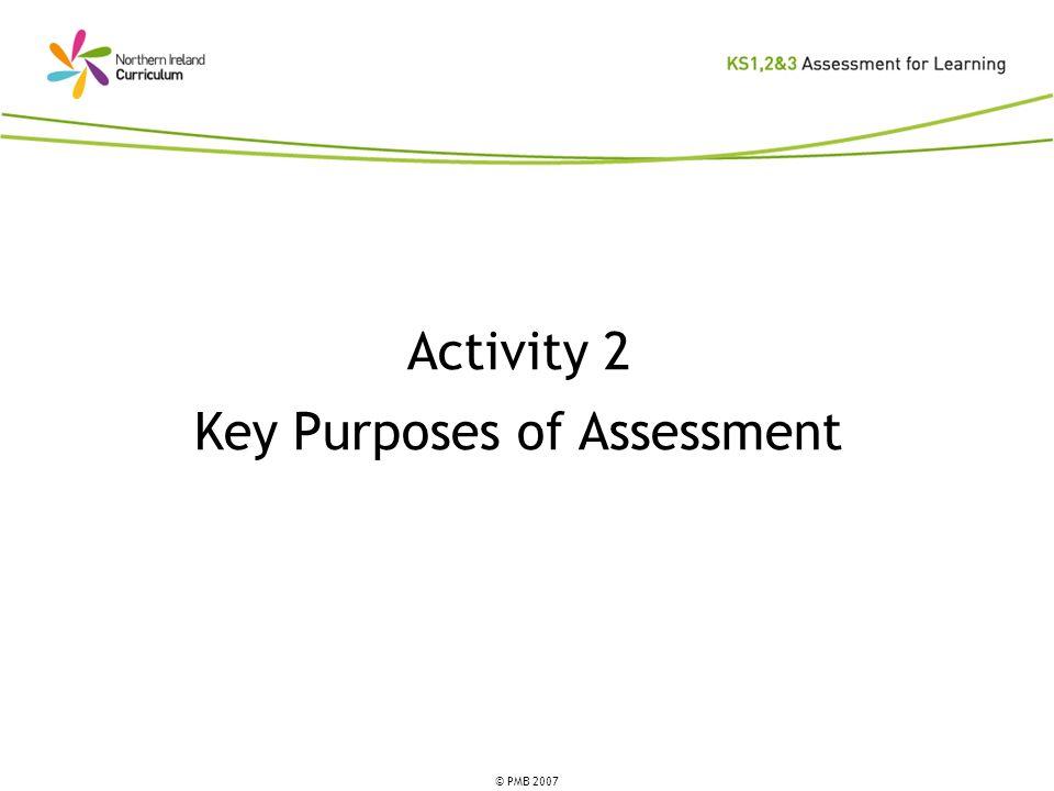 Key Purposes of Assessment