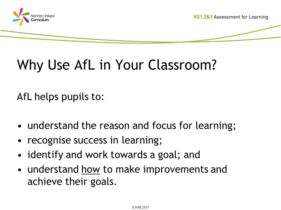 Why Use AfL in Your Classroom