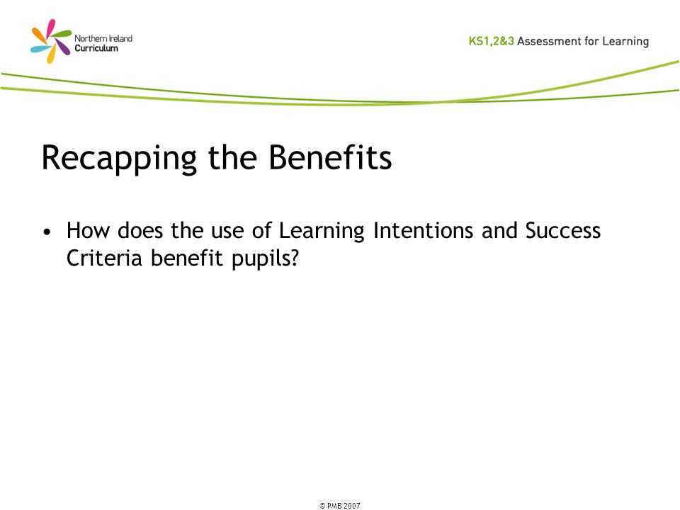 Recapping the Benefits