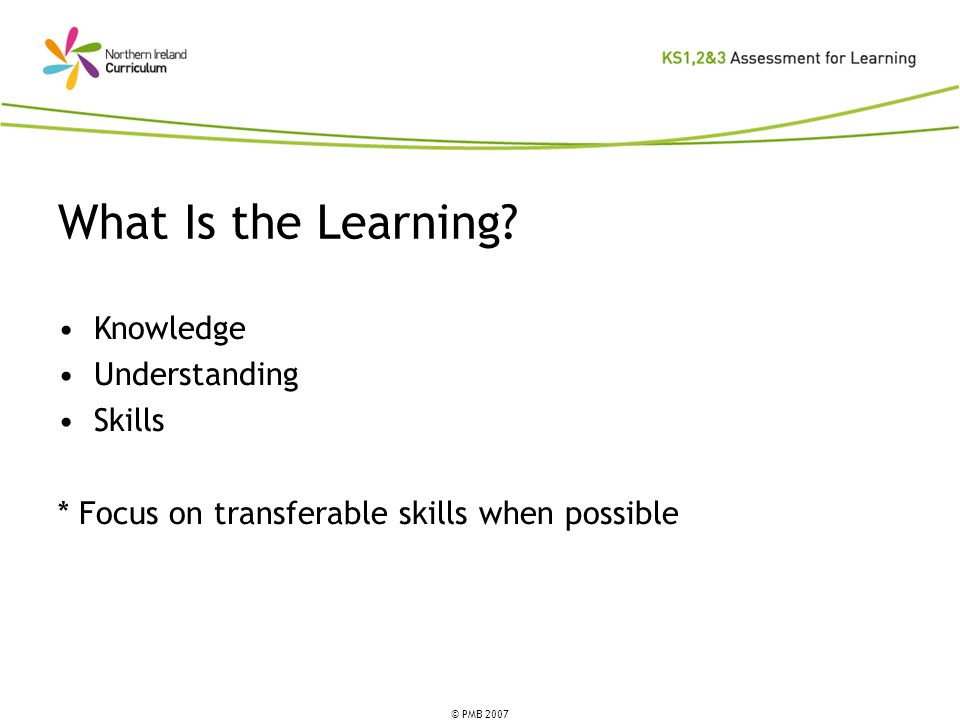 What Is the Learning Knowledge Understanding Skills