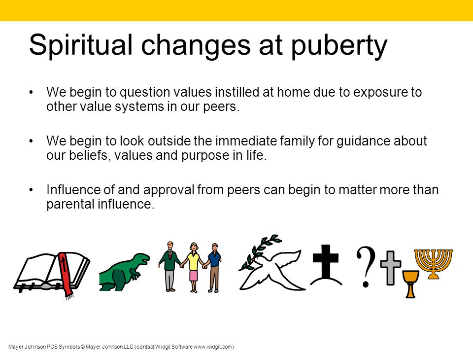 Spiritual changes at puberty