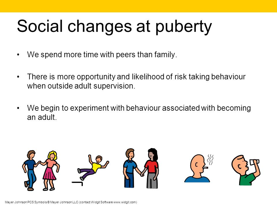 Social changes at puberty