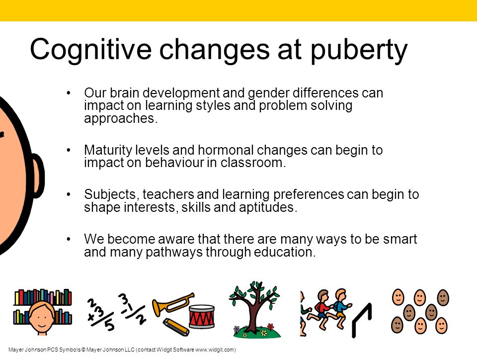 Cognitive changes at puberty