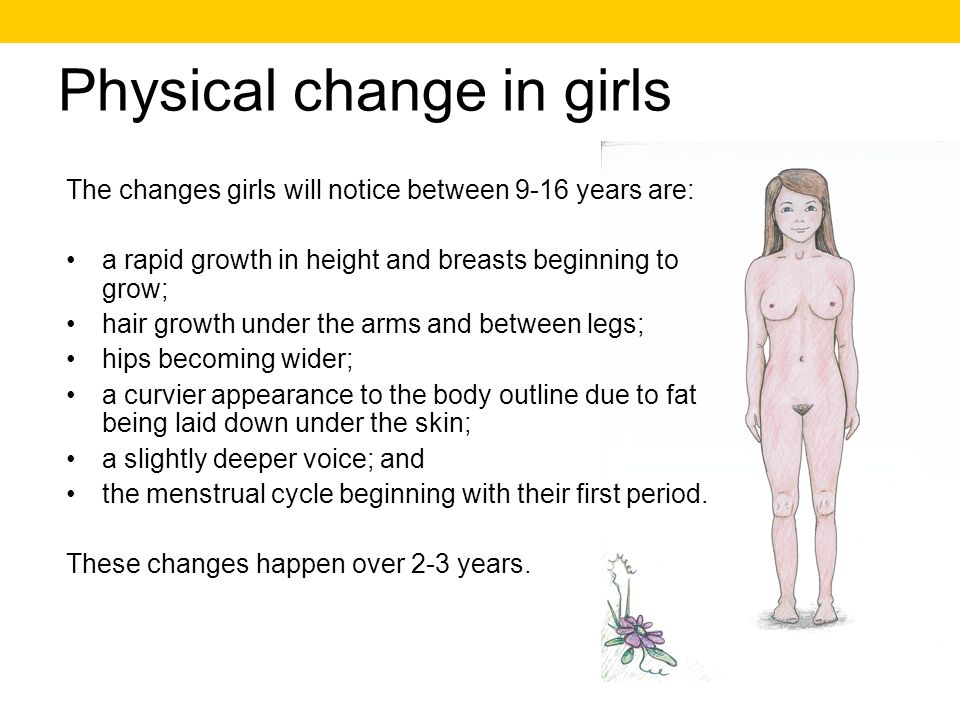 Physical change in girls