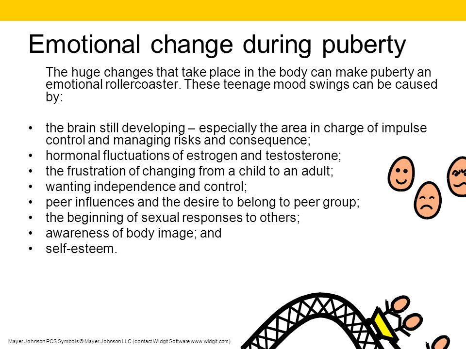 Emotional change during puberty