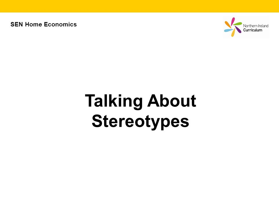 Talking About Stereotypes